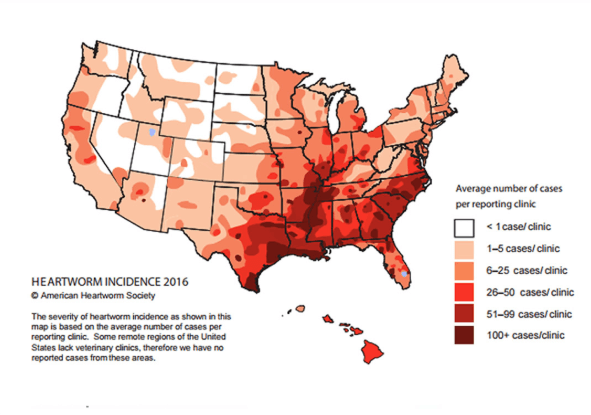 Heartworm Map